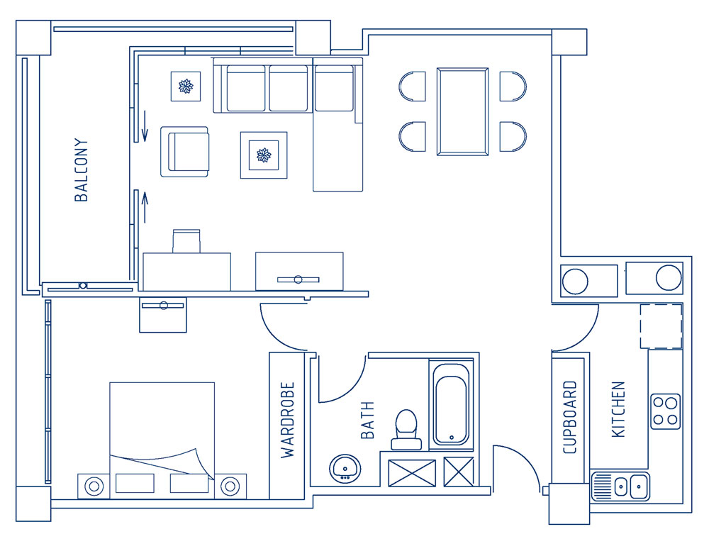 Deluxe One Bedroom Apartment (80sqm)