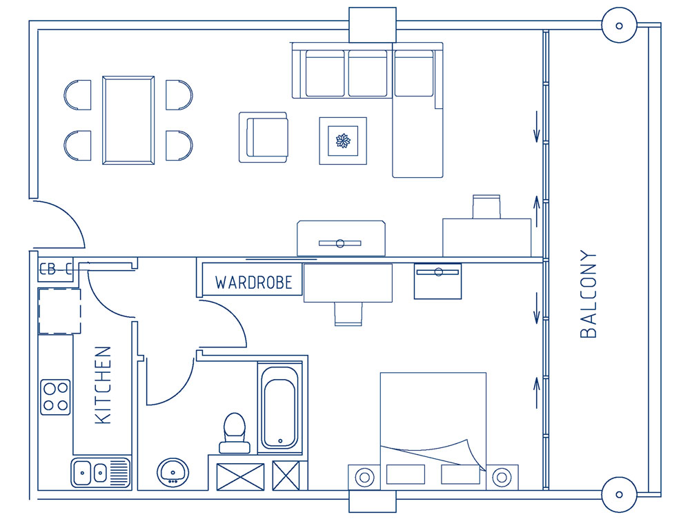 Premium One Bedroom Apartment (88sqm)