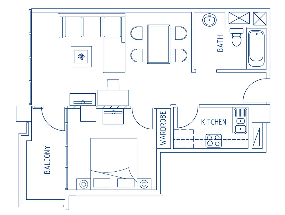 Superior One Bedroom Apartment (62sqm)